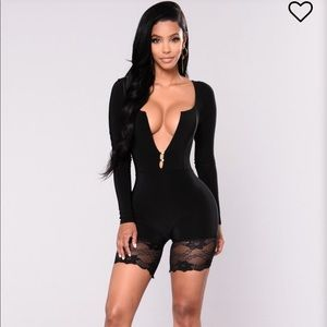 "Fashion Nova ""Peria"" Lace Romper"